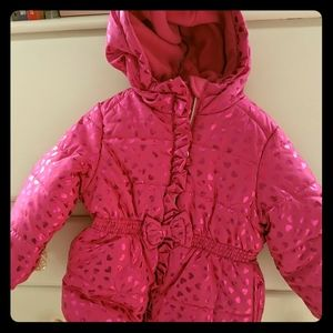 Rothschild pink puffer coat, 2T